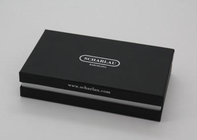 Doble Cubeta Negro y Plata